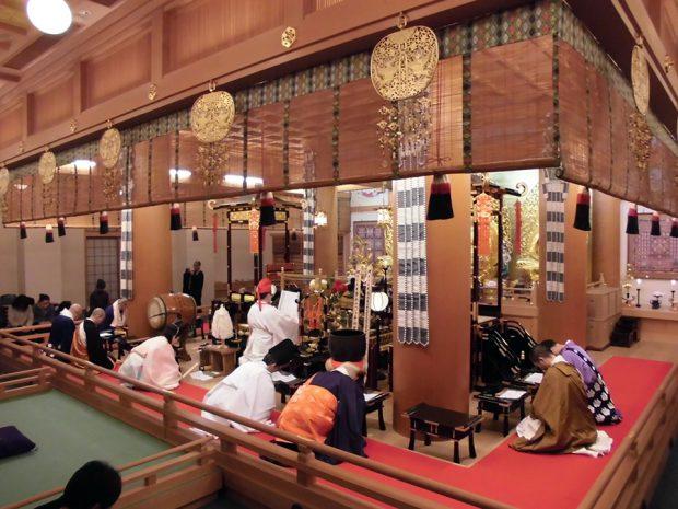 天台宗天鷲寺での法要 導師は当会顧問 三宅善信 金光教泉尾教会総長