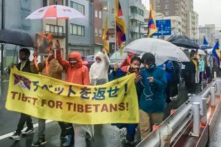 チベット蜂起記念日のピースマーチ